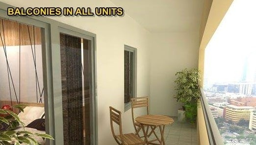 Balconies in all Units