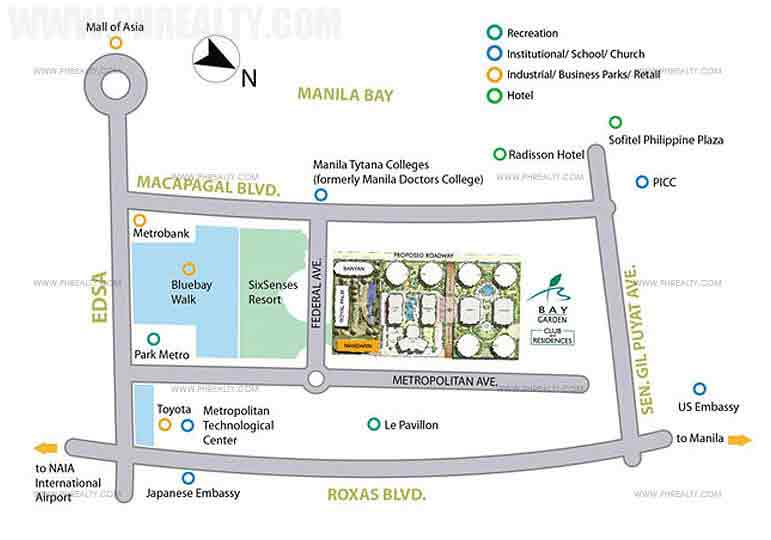 Bay Garden Club and Residences Location