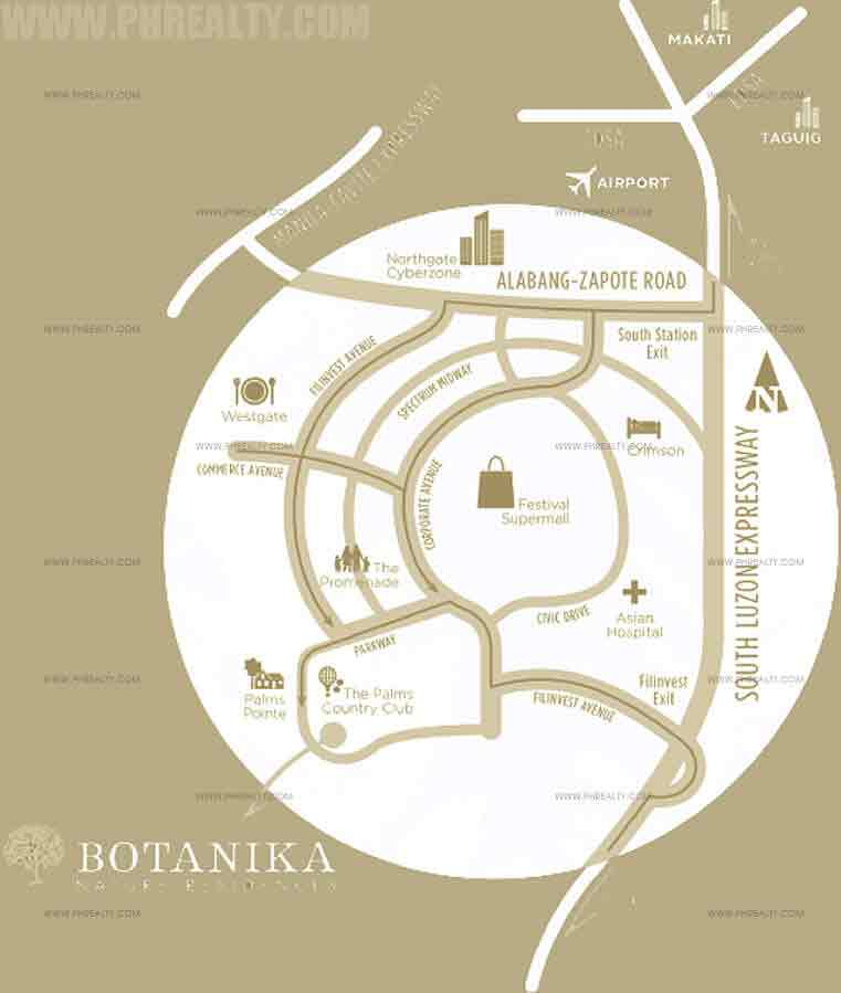 Botanika Nature Residences Location