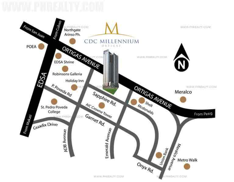 CDC Millennium Ortigas Location