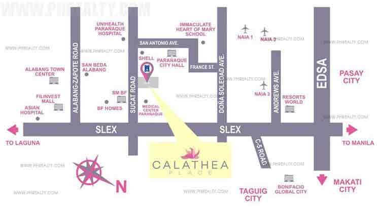 Calathea Place Location
