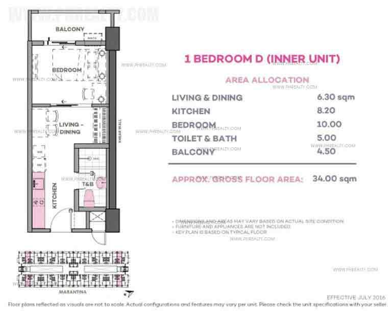 Marintana 1 Bedroom D (Inner Unit)