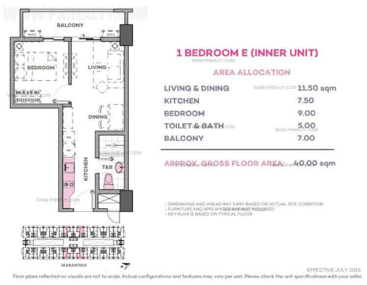 Marintana 1 Bedroom E (Inner Unit)