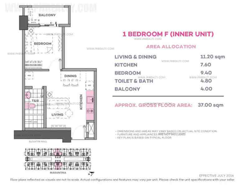 Marintana 1 Bedroom F (Inner Unit)