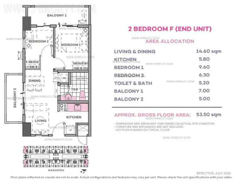 Marintana 2 Bedroom F (End Unit)