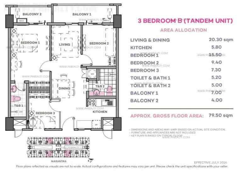 Marintana 3 Bedroom B (Tandem Unit)