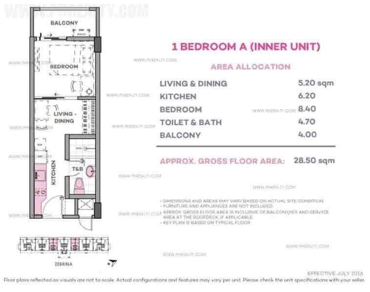 Zebrina 1 Bedroom A (Inner Unit)