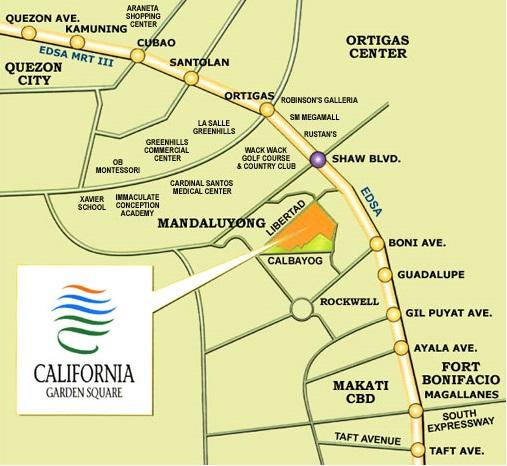 California Garden Square Location