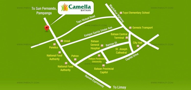 Camella Bataan Location