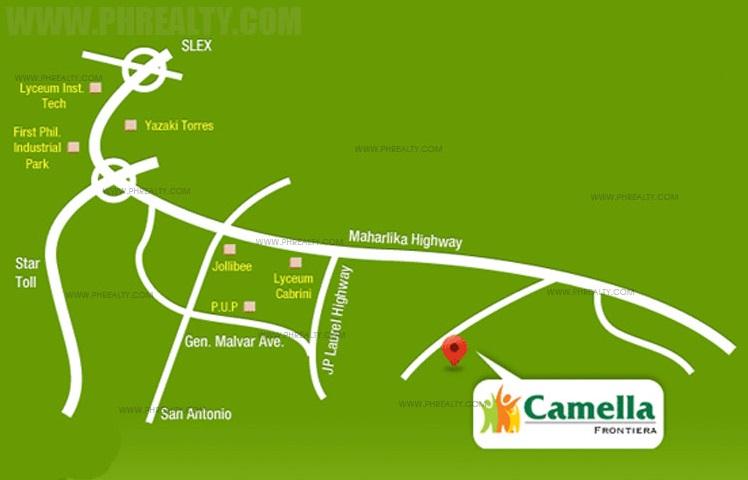 Camella Frontiera Location