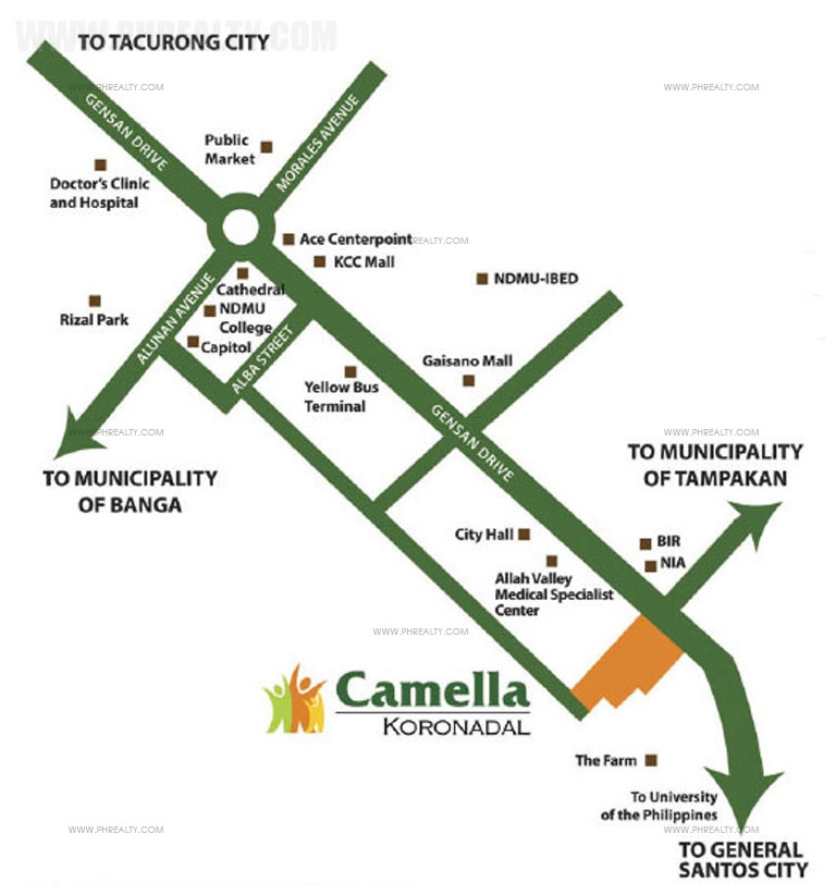 Camella Koronadal Location
