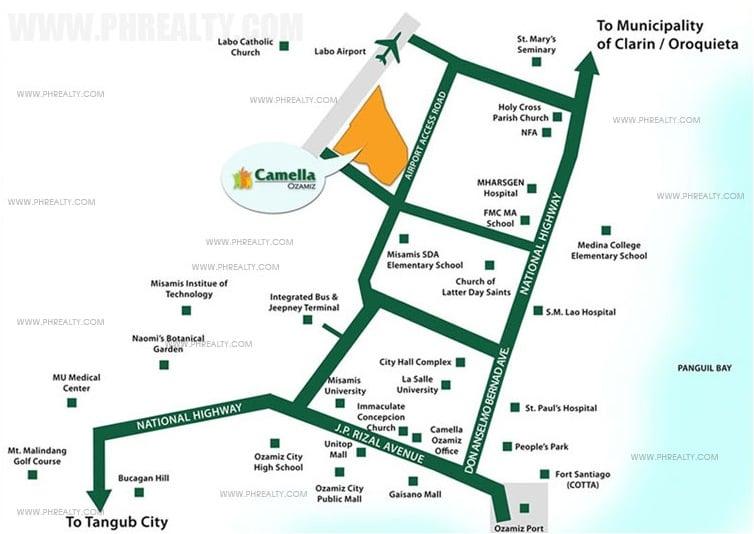 Camella Ozamiz Location