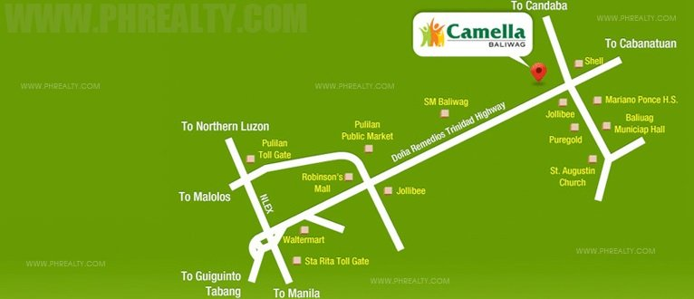 Camella Baliwag Location