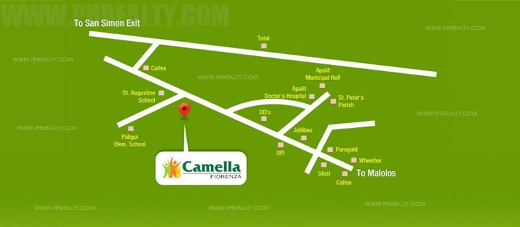 Camella Fiorenza Location