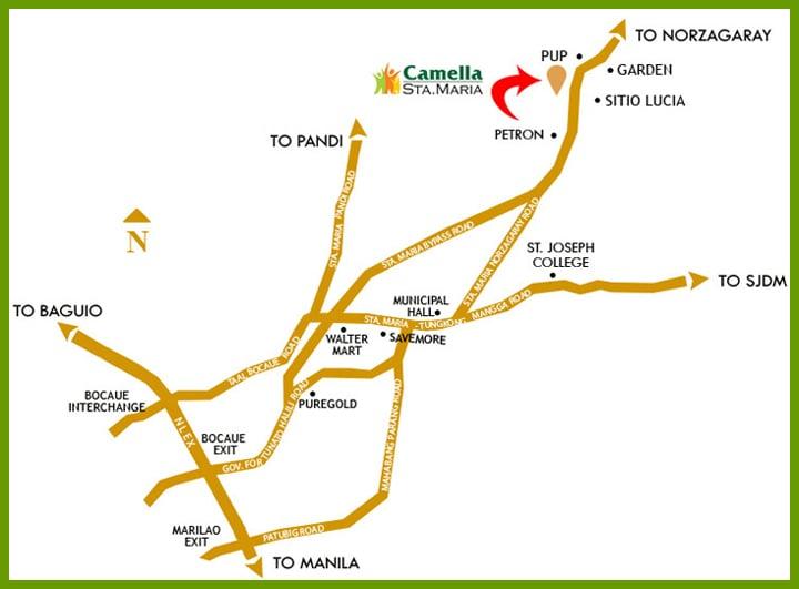 Camella Sta. Maria Location