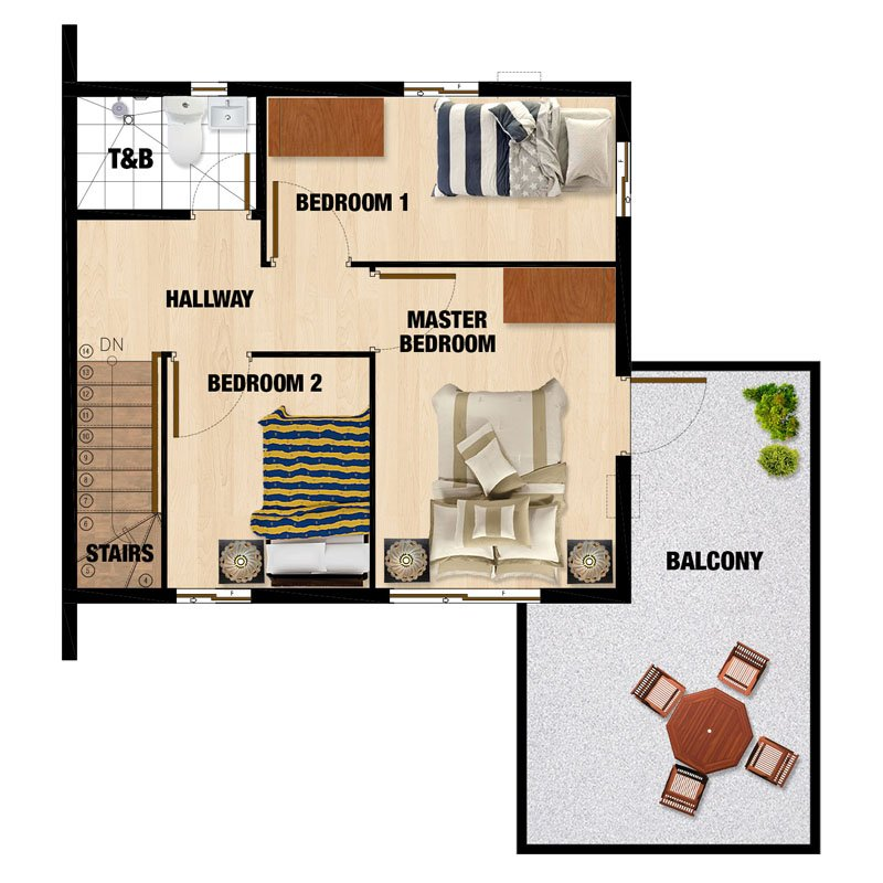 Carmina-UH Second Floor Plan