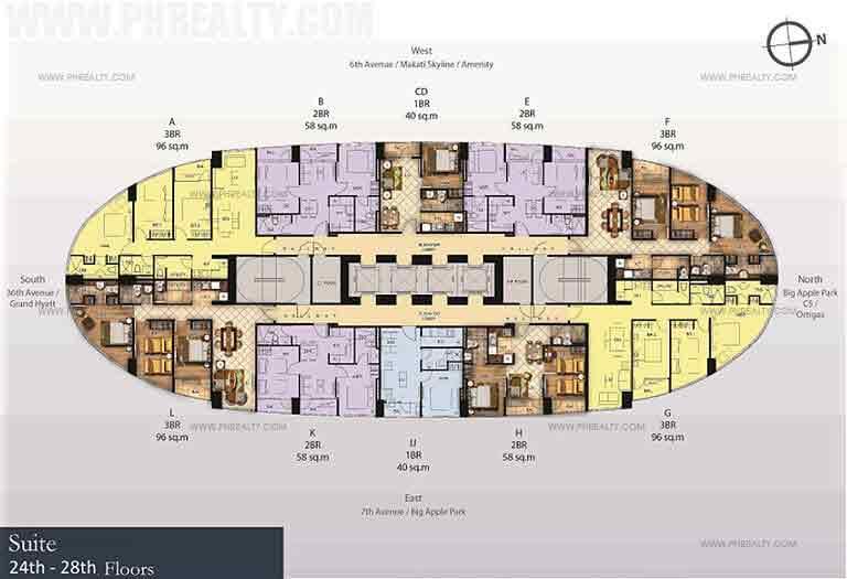 24th-28th Floor