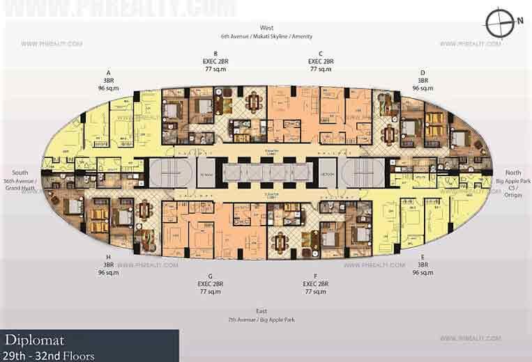 29th- 32nd Floors