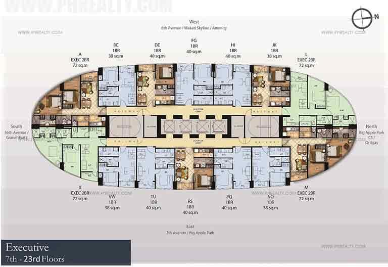 7th - 23rd Floor