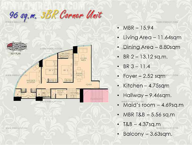 3 Bedroom Corner Unit