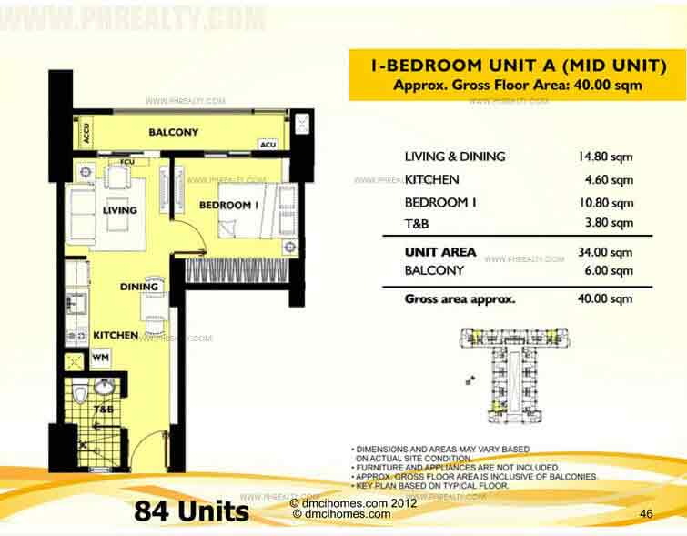 Unit A 1 Bedroom