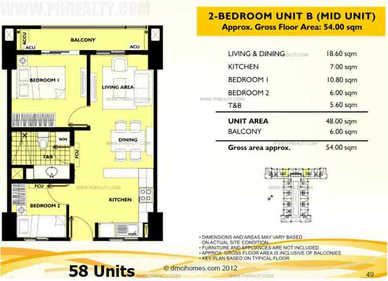 Unit B 2 Bedroom