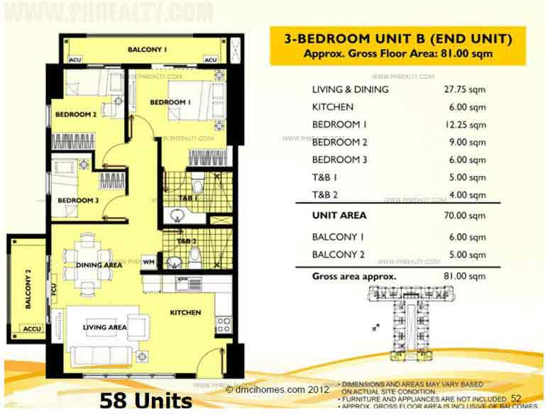 Unit B 3 Bedroom