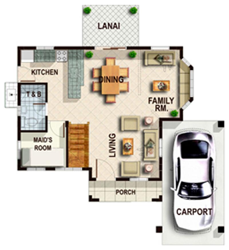 Emerald- Ground Floor Plan