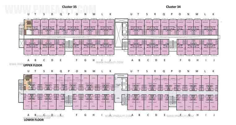 Floor Plan Cluster 34 & 35 Typical Floor Plan