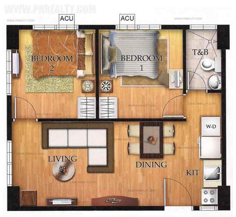 Unit Plan 2 Bedroom