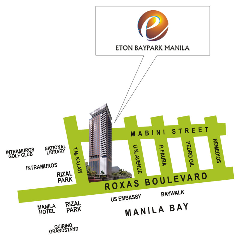 location address of eton properties eton baypark manila manila
