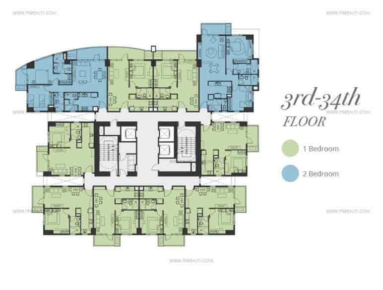 Floor Plan - 3rd to 34th