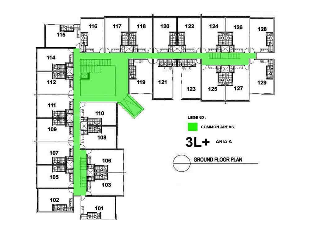 Aria A- Ground Floor Plan