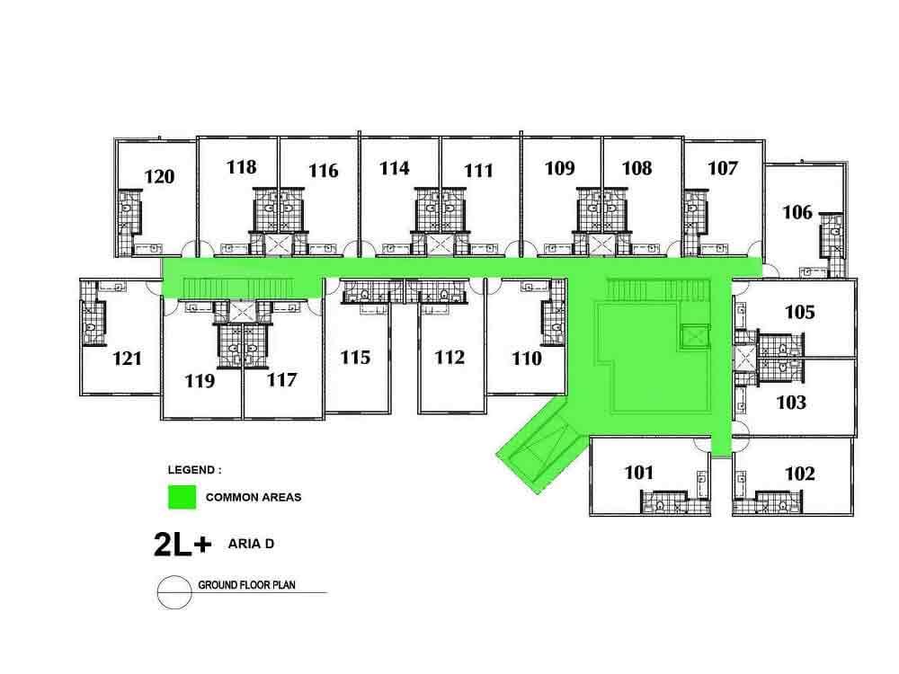Aria D- Ground Floor Plan