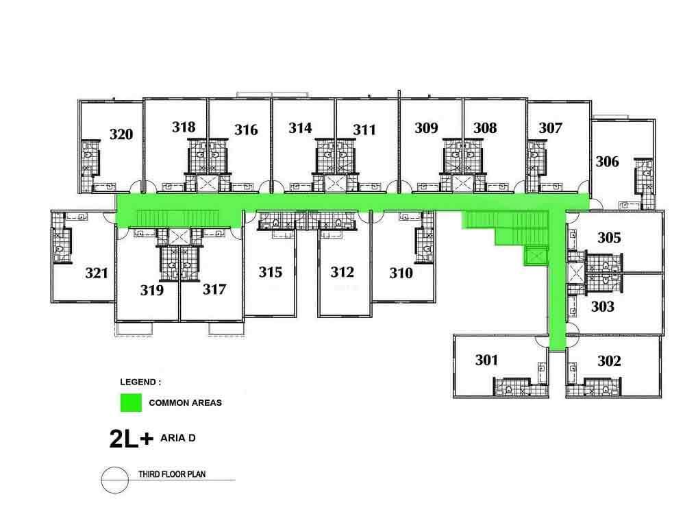Aria D- Third Floor Plan
