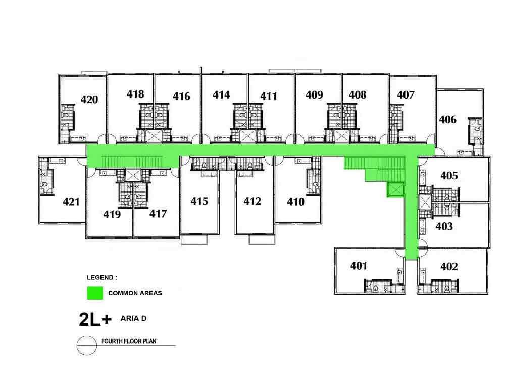 Aria D- Fourth Floor Plan