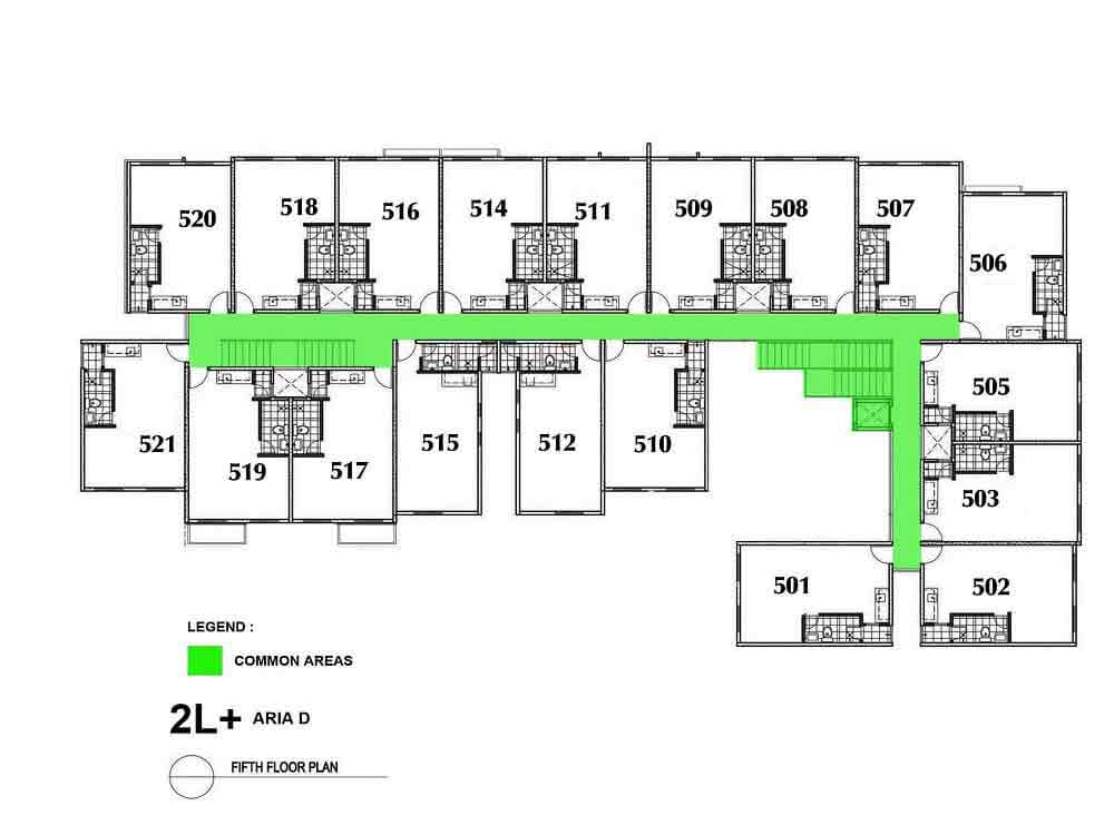 Aria D- Fifth Floor Plan