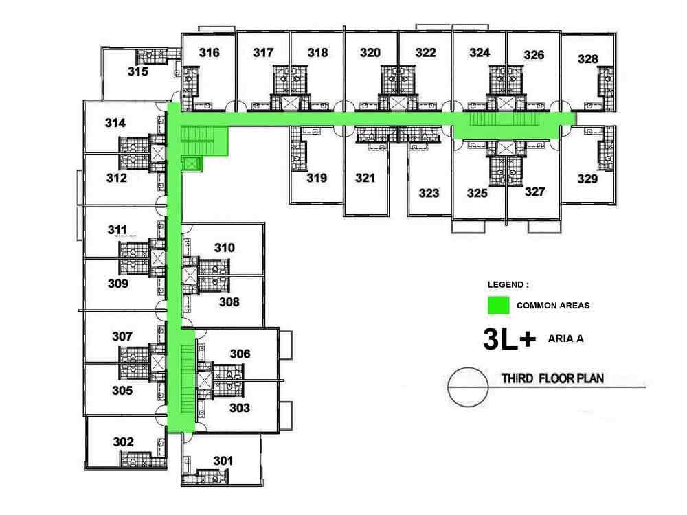 Aria A- Third Floor Plan
