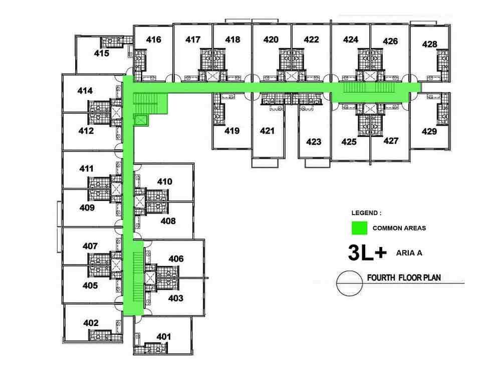 Aria A- Fourth Floor Plan