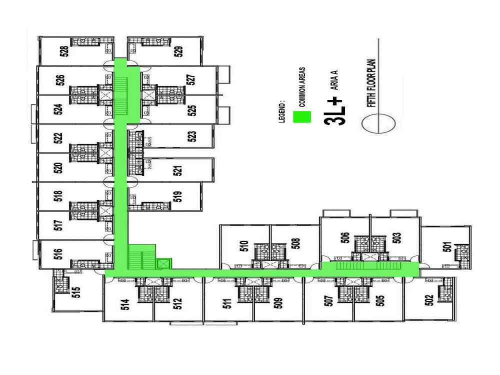 Aria A- Fifth Floor Plan