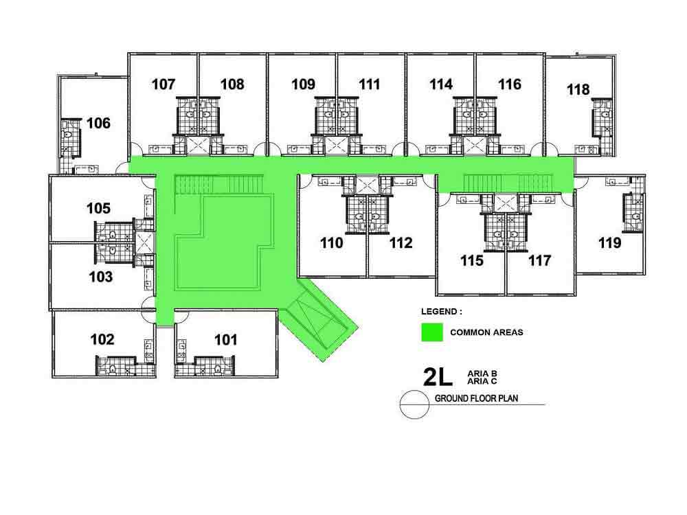 Aria B and C- Ground Floor Plan
