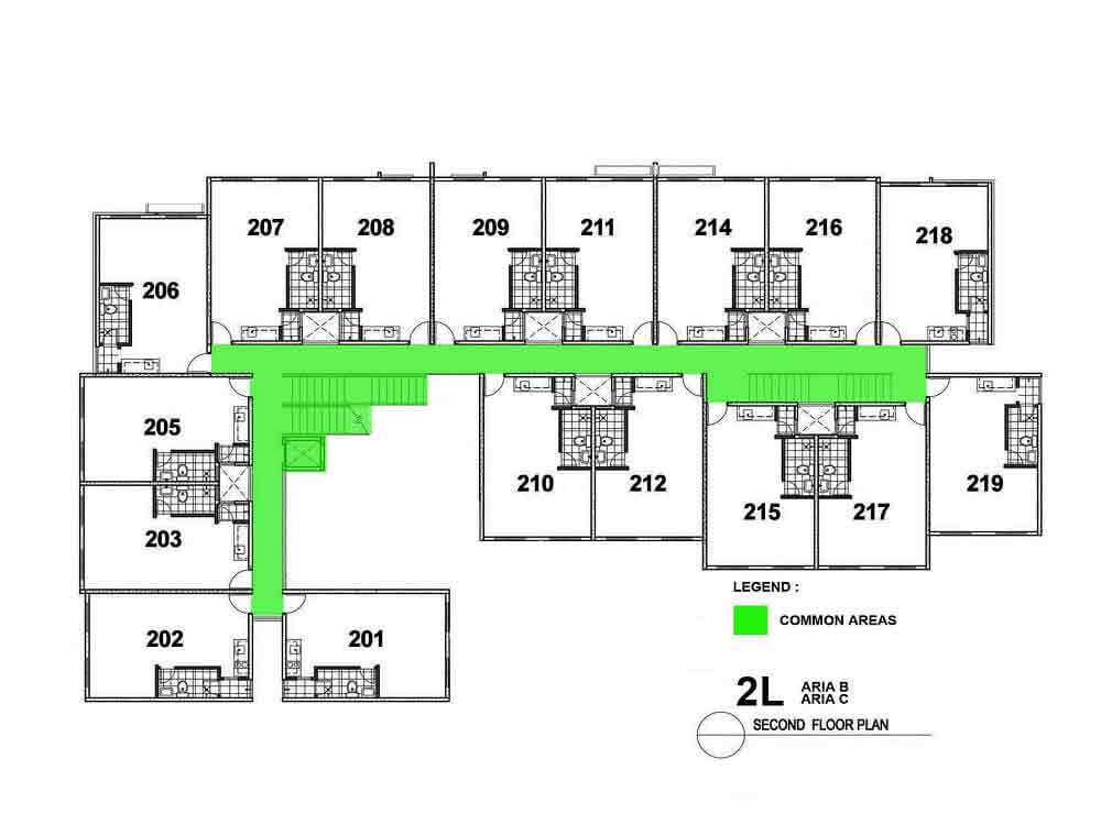 Aria B and C- Second Floor Plan