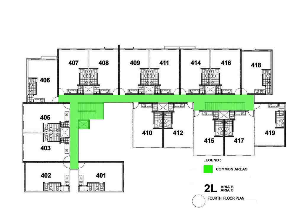 Aria B and C- Fourth Floor Plan