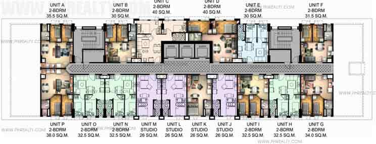 Floors Plan 7th & 28th Tower 1 7th & 27th Tower 2