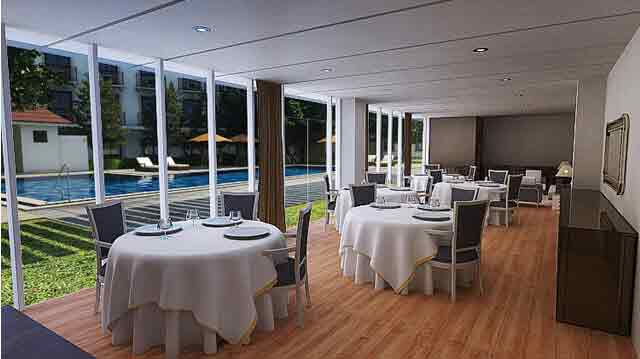Function Room with Pool View