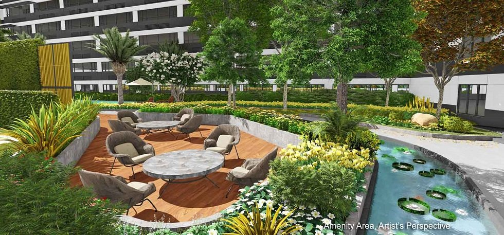 Landscaped Lounge Area