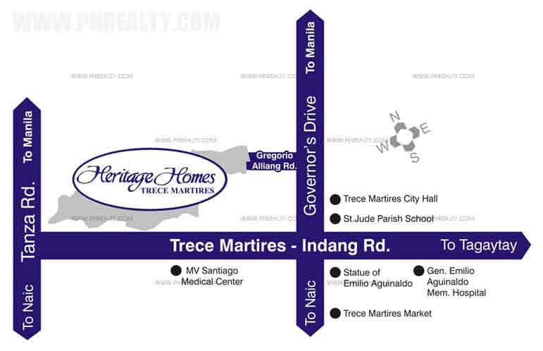 Heritage Homes Trece Martires Location