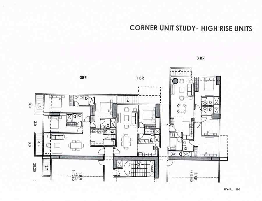 High Zone Corner Layout