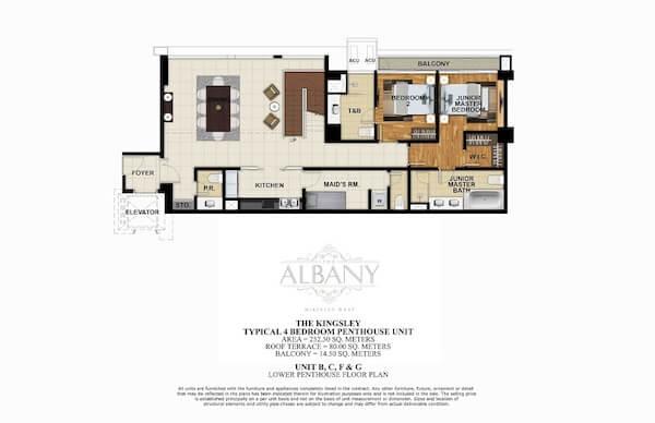 4 BR Penthouse - Unit B, C, F & G