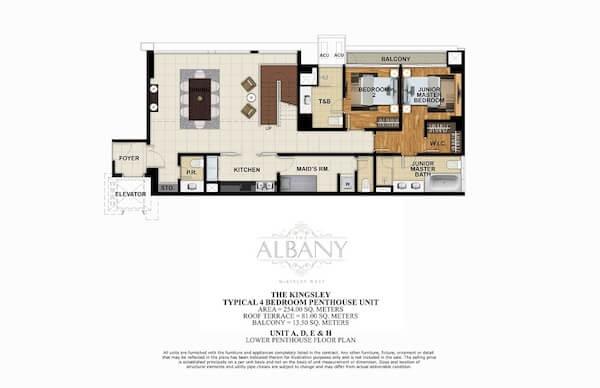 Typical 4 BR Penthouse Unit